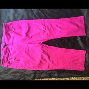 INC International Concepts Pink crop pant size 14P